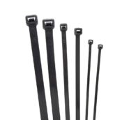 Стяжка кабельная (хомут) нейлон размер 3х200мм, цвет черный (1 пакет/100 шт.)