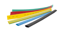 Термоусаживаемая трубка маркировочная 6/3мм черная (1 рулон/100 м)