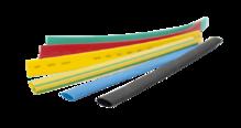 Термоусаживаемая трубка маркировочная 50/25мм желтая (1 рулон/25 м)