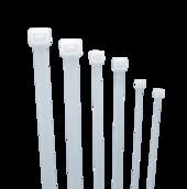 Стяжка кабельная (хомут) нейлон размер 3х60мм, цвет белый (1 пакет/100 шт.)