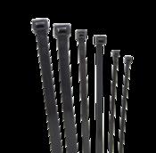 Стяжка кабельная (хомут) нейлон размер 8х200мм, цвет черный (1 пакет/100 шт.)