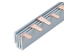 Соединительная шина трехполюсная штыревая (PIN) до 63А 6х1,8мм (10 кв. мм) длина 12модулей