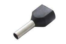 Наконечник штыревой втулочный изолир двойной сечение 1,5 кв.мм длина 8мм цвет черный (1пакет/50шт)