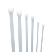 Стяжка кабельная (хомут) нейлон размер 8х400мм, цвет белый (1 пакет/100 шт.)