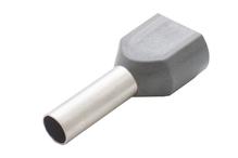 Наконечник штыревой втулочный изолир двойной сечение 4,0 кв.мм длина 12мм цвет серый (1пакет/50шт)