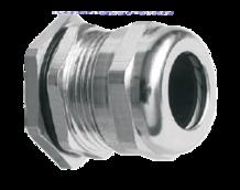 Кабельный ввод (сальник) латунный никелированный резьба PG16, диаметр кабеля 10-14 мм