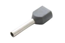 Наконечник штыревой втулочный изолир двойной сечение 0,75 кв.мм длина 10мм цвет серый (1пакет/50шт)