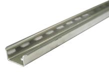 Дин-рейка ТН 35x15 оцинкованная сталь (цинк белый)