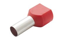 Наконечник штыревой втулочный изолир двойной сечение 10,0кв.мм длина 14мм цвет красный (1пакет/50шт)