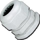 Кабельный ввод (сальник) пластиковый резьба PG07, диаметр кабеля 3-6,5 мм (1 упак./100 шт.)