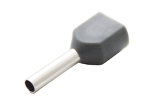 Наконечник штыревой втулочный изолир двойной сечение 0,75 кв.мм длина 8мм цвет серый (1пакет/50шт)