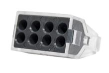 Зажим втычной 8-гнезд серый макс.сечение 2,5 кв.мм 24 А (1пакет/50шт)
