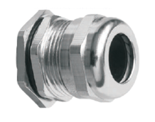 Кабельный ввод (сальник) латунный никелированный резьба PG13,5, диаметр кабеля 6-12 мм