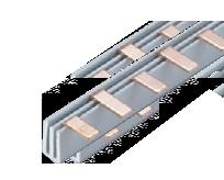 Соединительная шина двухполюсная штыревая (PIN) до 63А 6х1,8мм (10 кв. мм) длина 12модулей