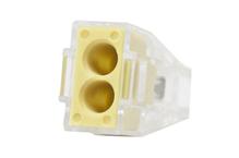 Зажим втычной 2-гнезда желтый макс.сечение 2,5 кв.мм 24 А (1пакет/50шт)