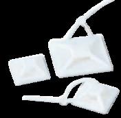 Площадка-крепление для кабельной стяжки самоклеющаяся 20х20 (1 пакет/100 шт.)