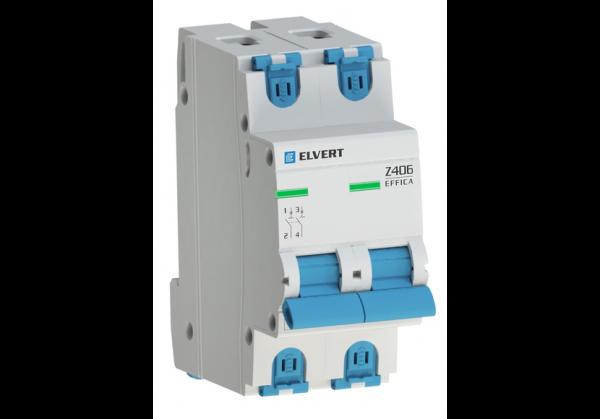 Автоматический выключатель Z406 2Р D1 4,5кА ELVERT