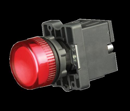 Лампа сигнальная в пластиковом корпусе LED 220В красная
