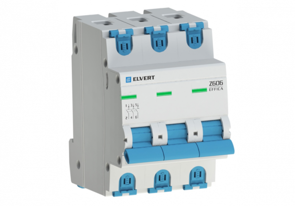 Автоматический выключатель Z606 3Р C20 6кА ELVERT
