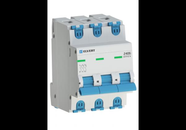 Автоматический выключатель Z406 3Р D10 4,5кА ELVERT