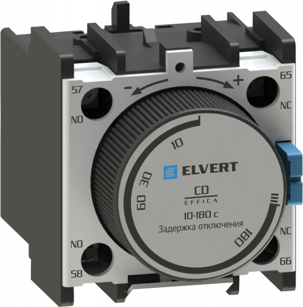 Приставки контактные с выдержкой времени отключения CD 10-180 с. для контакторов СС10, eTC60