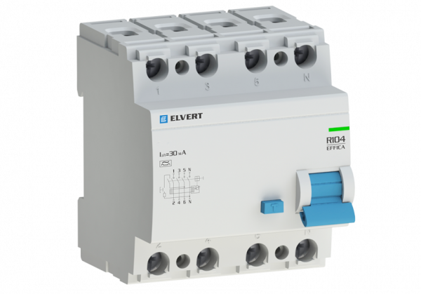 Устройство защитного отключения R10 4P 80А 300мА тип S ELVERT