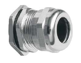 Кабельный ввод (сальник) латунный никелированный резьба PG07, диаметр кабеля 3-6,5 мм
