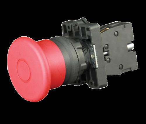 """Кнопка грибок """"СТОП"""" с фиксацией красная IP65 ?40мм"""