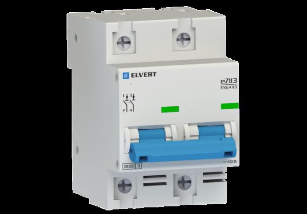 Автоматический выключатель eZ113 2Р C125 10кА ELVERT