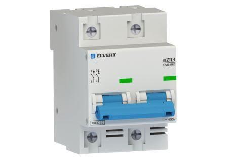 Автоматический выключатель eZ113 2Р D125 10кА ELVERT