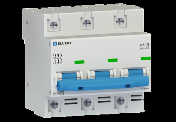 Автоматический выключатель eZ113 3Р C100 10кА ELVERT