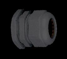 Кабельный ввод (сальник) пластиковый резьба M25x1,5, диаметр кабеля 14-18 мм (1 упак./100 шт.)