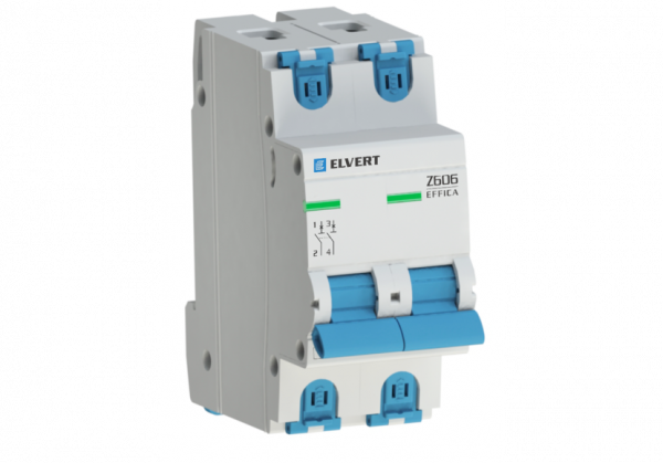 Автоматический выключатель Z606 2Р K20 6кА ELVERT