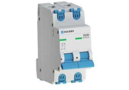 Автоматический выключатель Z606 2Р C25 6кА ELVERT