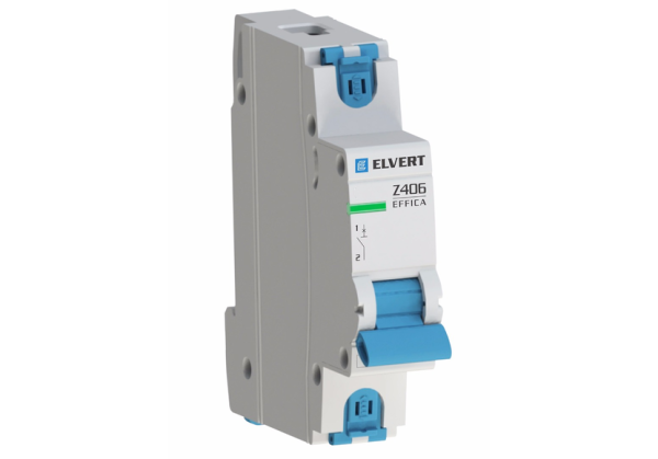 Автоматический выключатель Z406 1Р D63 4,5кА ELVERT