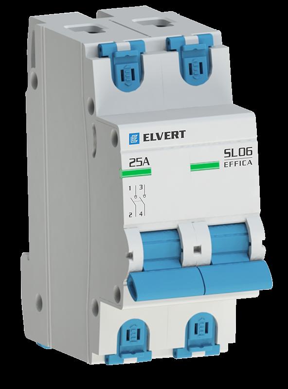 Выключатель нагрузки SL06 2Р 20А ELVERT