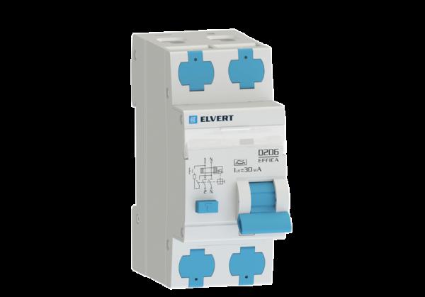 Автоматический выключатель дифф.тока D206 2р B40 30 мА тип А ELVERT