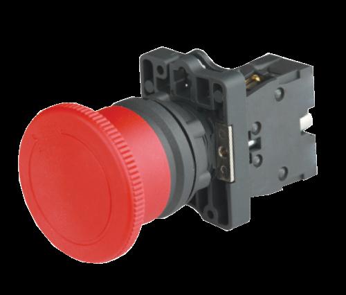 """Кнопка грибок """"СТОП"""" с фиксацией и поворотом красная IP65 ?40мм"""