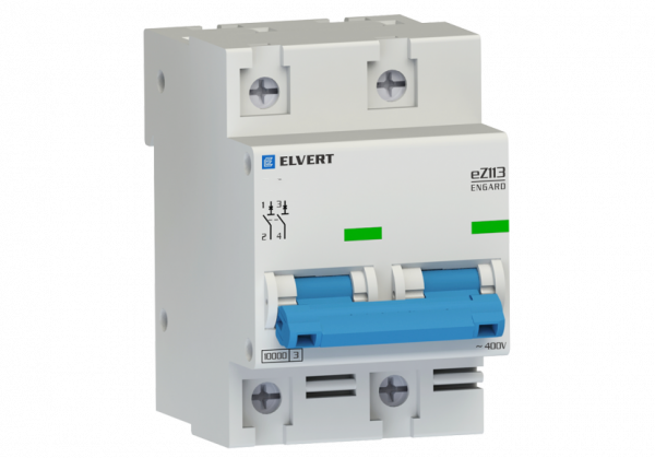 Автоматический выключатель eZ113 2Р D10 10кА ELVERT