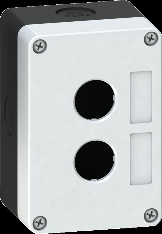 Корпус кнопочного поста пластиковый серый на 2 места PW