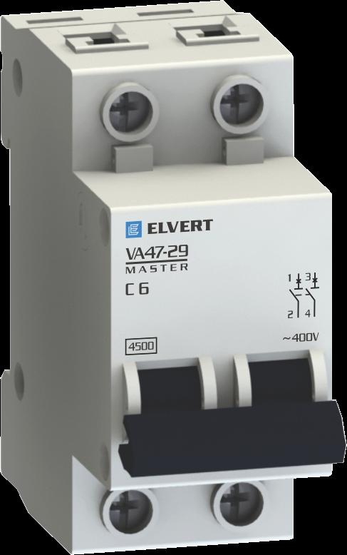 Автоматические выключатели VA47-29С 6А 2p 4,5кА серии Master