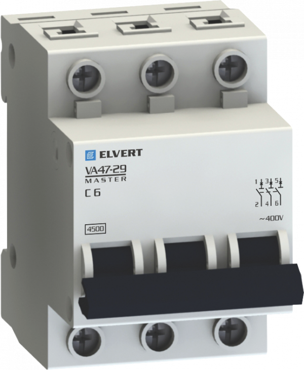 Автоматические выключатели VA47-29С 6А 3p 4,5кА серии Master