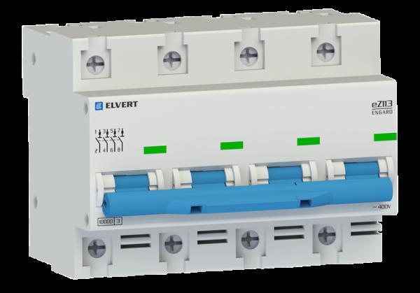 Автоматический выключатель eZ113 4Р D63 10кА ELVERT