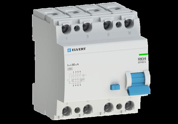 Устройство защитного отключения R10 4P 80А 30мА тип A ELVERT
