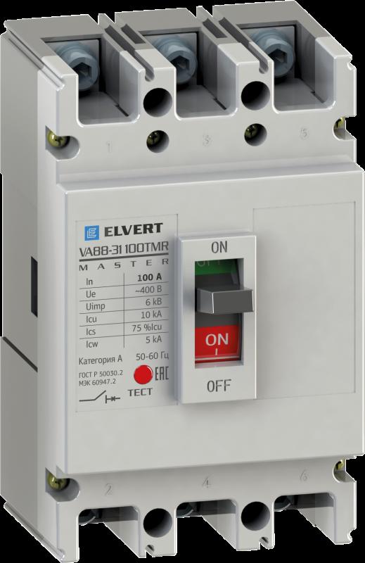 Силовой автоматический выключатель VA88-31 50TMR 3P 10кА серии Master