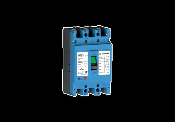 Силовой автоматический выключатель E2K-1B 100TMR 3P 22кА ELVERT