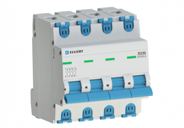 Автоматический выключатель Z606 4Р D16 6кА ELVERT