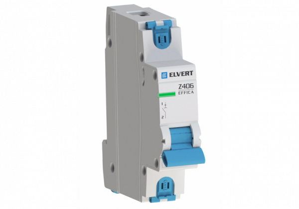 Автоматический выключатель Z606 1Р B25 6кА ELVERT