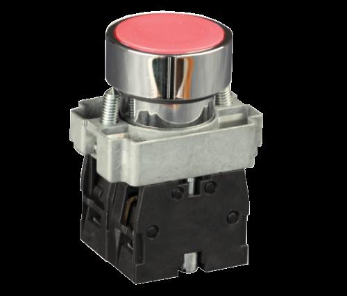 Кнопка в металическом корпусе белая IP44