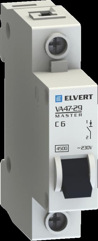 Автоматические выключатели VA47-29С 6А 1p 4,5кА серии Master